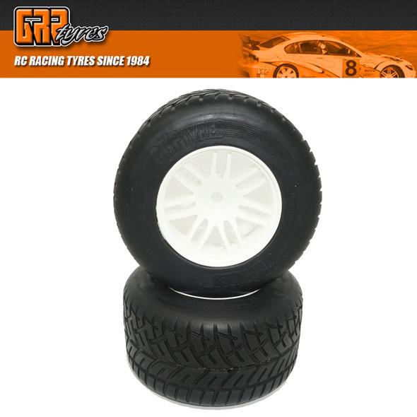 GRP GWH44E 1:5 F1 - W44 RAIN Rear - E ExtraSoft Rain Tire w/ White Wheel (2)