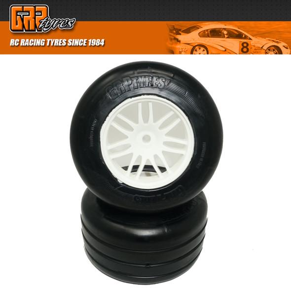 GRP GWH66-S1 1:5 F1 - W66 REVO NEW Rear - S1 SuperSoft Tire w/ White Wheel (2)