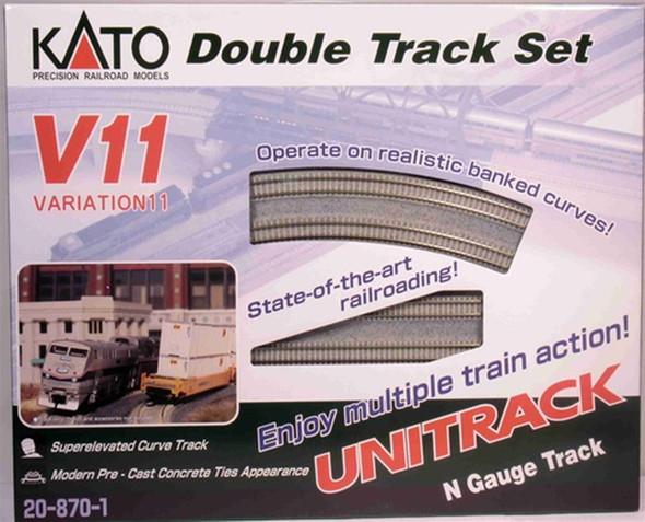 Kato 20-870-1 Unitrack Double Track Variation Set 11 Curves & Concrete Ties N Scale