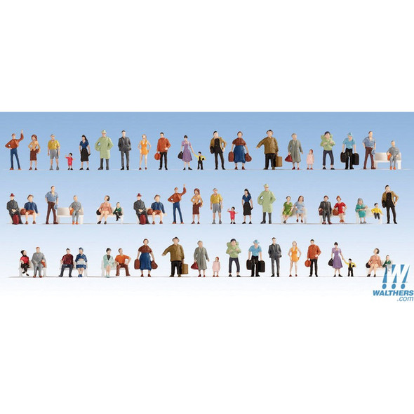 Walthers 949-6042 Passengers On the Platform Pkg (60) HO Scale