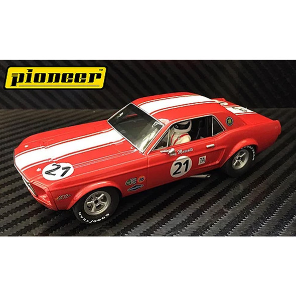 Pioneer P012 '68 Mustang Notchback #21 Tony Marcotti Slot Car 1/32 Scalextric DPR