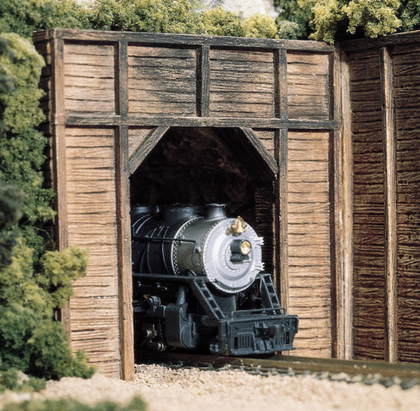 Woodland Scenics N Scale Tunnel Timber Single Portal (2) C1154