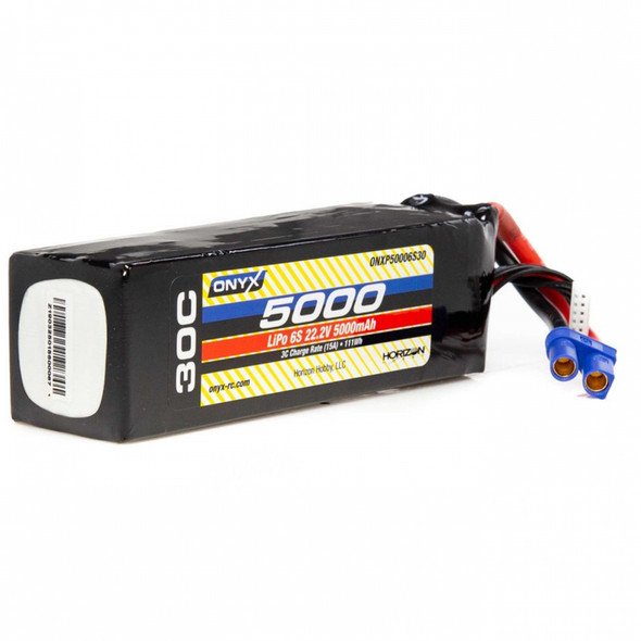ONYX ONXP50006S30 6S 22.2V 5000mAh 30C LiPo Battery w/ EC5 Connector