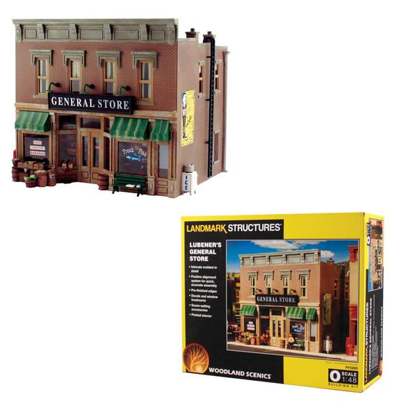 Woodland Scenics Lubener's General Store Railroad Train Building O Scale Kit PF5890