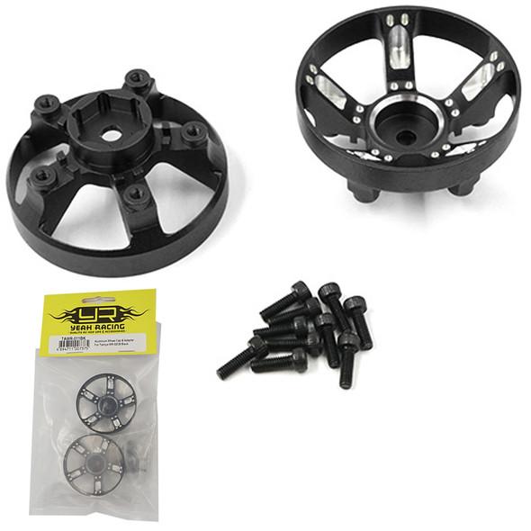 Yeah Racing TAWR-011BK Aluminum Wheel Cap Cover Black : Tamiya WR-02CB