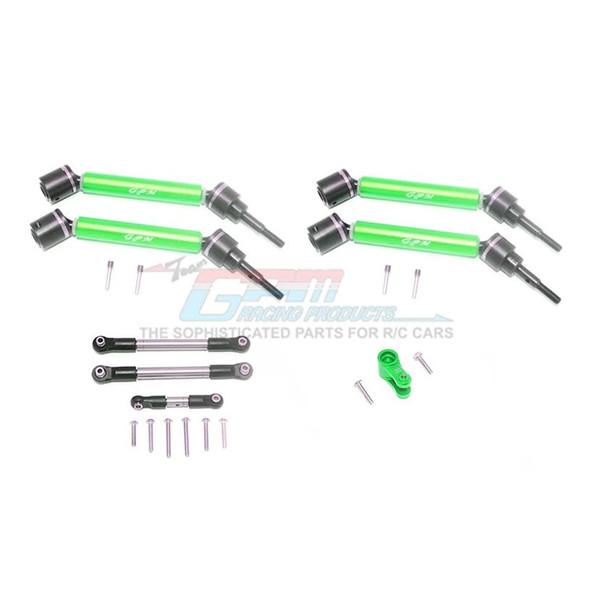 GPM Stainless Steel Tie Rod+25T Servo Horn F/R Adj CVD Drive Shaft Green : Maxx