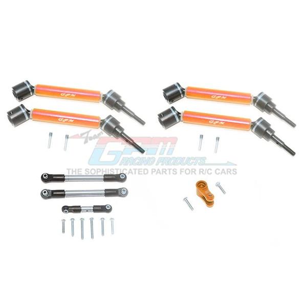 GPM Stainless Steel Tie Rod+25T Servo Horn F/R Adj CVD Drive Shaft Orange : Maxx