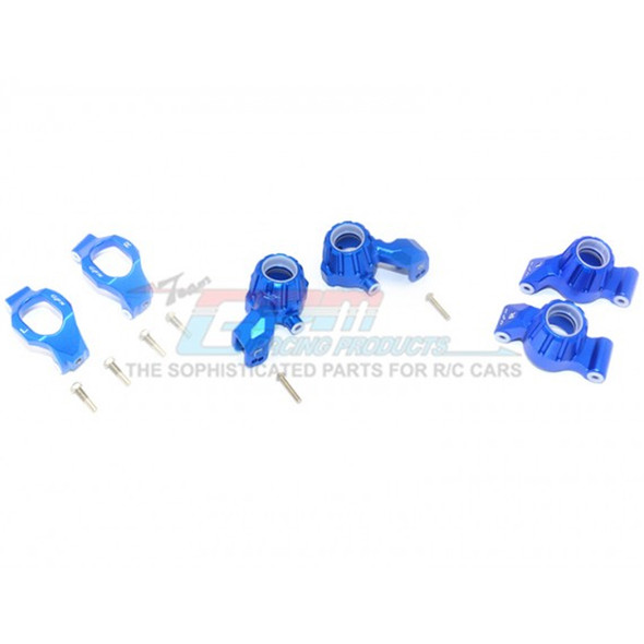 GPM Racing Alum Front C-Hubs + Front & Rear Knuckle Arms Blue : Maxx