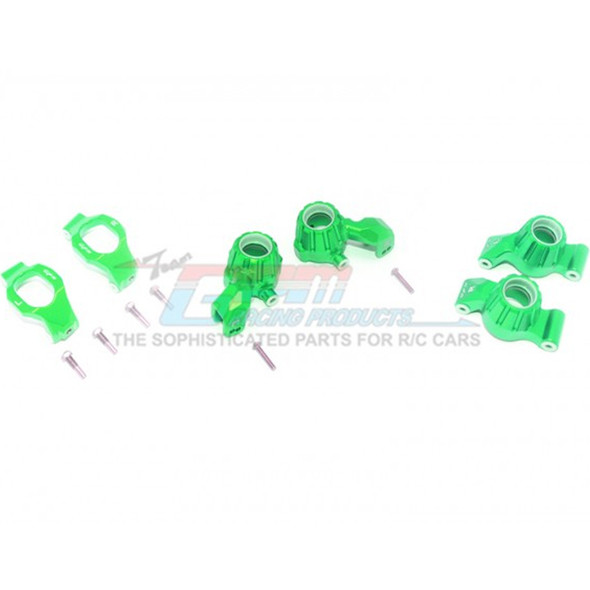 GPM Racing Alum Front C-Hubs + Front & Rear Knuckle Arms Green : Maxx