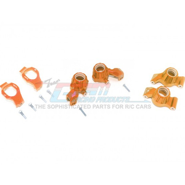 GPM Racing Alum Front C-Hubs + Front & Rear Knuckle Arms Orange : Maxx