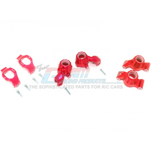 GPM Racing Alum Front C-Hubs + Front & Rear Knuckle Arms Red : Maxx