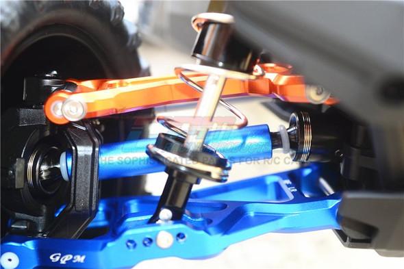 GPM Racing Harden Steel+Alum F/R Adjustable CVD Drive Shaft (4) Set Blue : Maxx Monster Truck