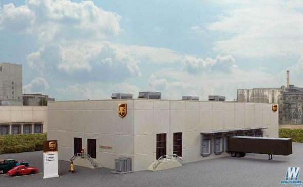 """Walthers 933-3863 UPS(R) Hub with Customer Center Kit 12 x 6-1/2 x 3-3/16"""" N Scale"""