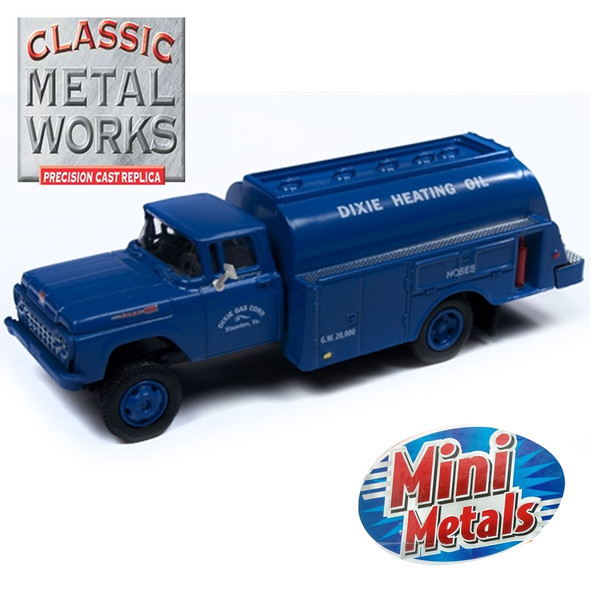Classic Metal Works 30553 - 1960 Ford Tank Truck Dixie Gas Corp 1:87 HO Scale