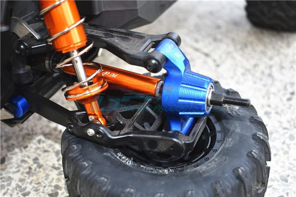 GPM Alum Front & Rear Adjustable CVD Drive Shaft+Hex Adapter +2mm Green : Maxx