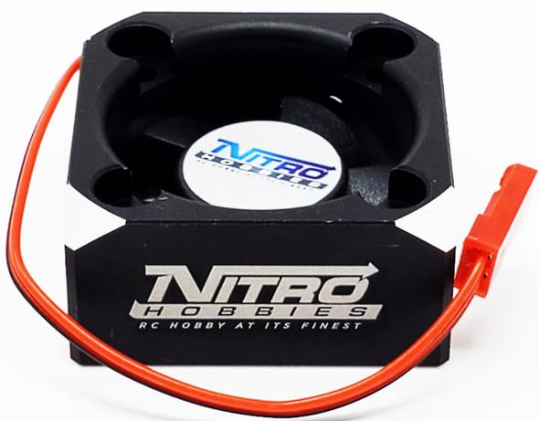 Nitro Hobbies Aluminum Case 30mm Cyclone 28000 RPM Cooling Turbo Fan Black