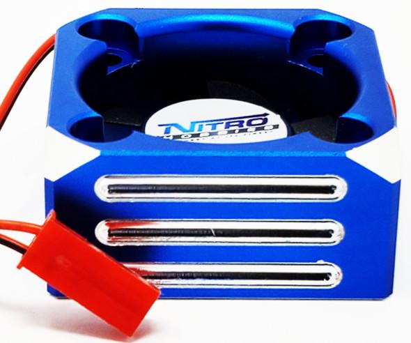 Nitro Hobbies Aluminum Case 30mm Cyclone 28000 RPM Cooling Turbo Fan Blue