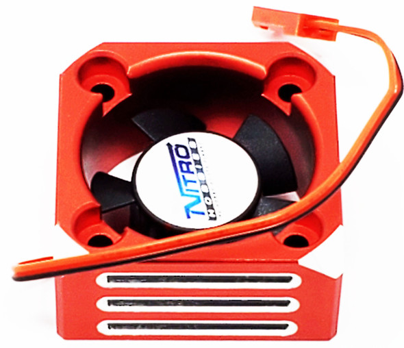 Nitro Hobbies Aluminum Case 30mm Cyclone 28000 RPM Cooling Turbo Fan Red