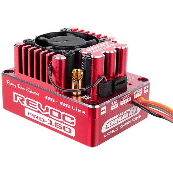 Corally C-53004 Revoc PRO Red 2-6S BL ESC : 1/8 Sensored & Sensorless Motors 160A