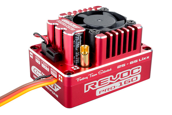 Corally C-53004 Revoc PRO Red 2-6S BL ESC : 1/8 Sensored & Sensorless Motors 160A