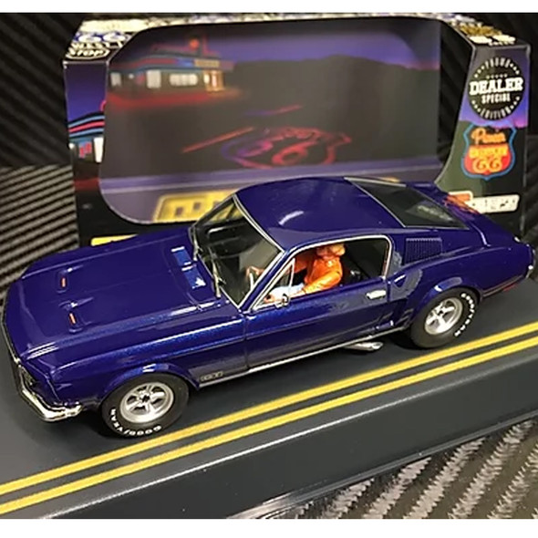 Pioneer P055-DS Mustang Fastback GT Midnight Blue Route 66 Slot Car 1/32 Scalextric DPR