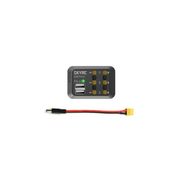 SKY RC SK-600114-02 DC Power Distributor x3 / USB Power x2 w/ DC Male Plug