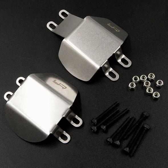 Yeah Racing TACC-039 Stainless Steel Front & Rear Diff Protector : Tamiya CC02