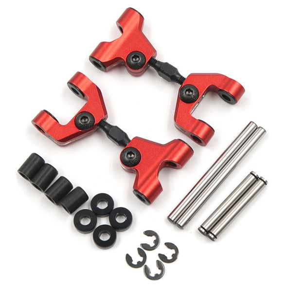 Yeah Racing TATT-039RD Alum Rear Upper Arm Set Red : Tamiya TT-01/ TT-01E