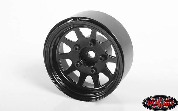 """RC4WD Z-W0262 OEM Stamped Steel 1.55"""" Beadlock Wheels Black (4)"""