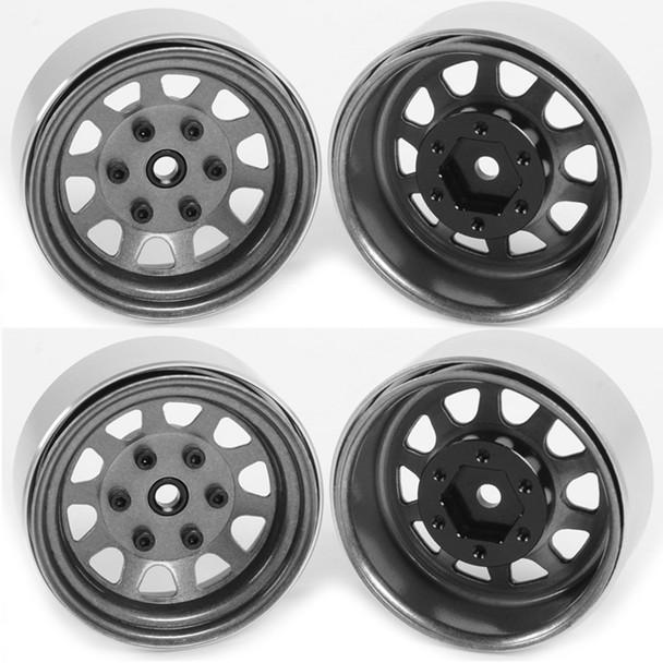 "RC4WD Z-W0272 Stamped Steel 1.7"" Beadlock Wagon Wheels Clear (4)"