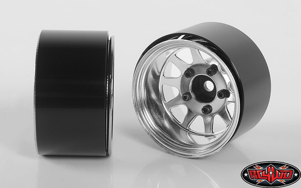 "RC4WD Z-W0285 Deep Dish Wagon 1.55"" Stamped Steel Beadlock Wheels Chrome (4)"