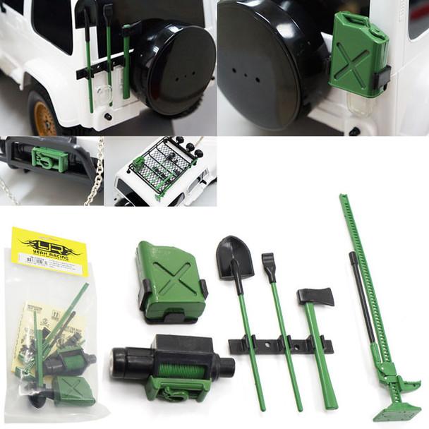 Racing 1//10 RC Rock Crawler Winch Axes Shovel Gas Can High Jack YA-0356RD P2