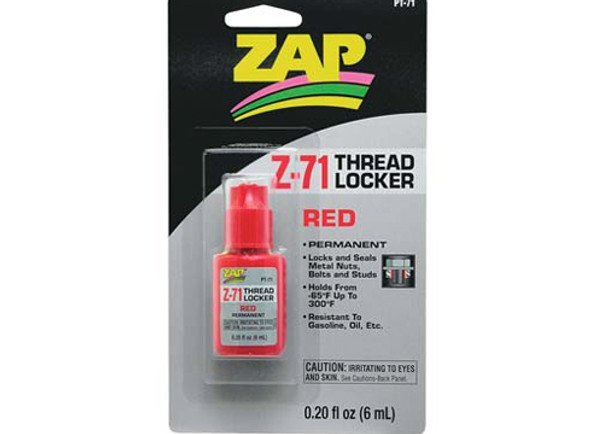 Pacer Zap Adhesives Red Thread Locker .20 oz PT71