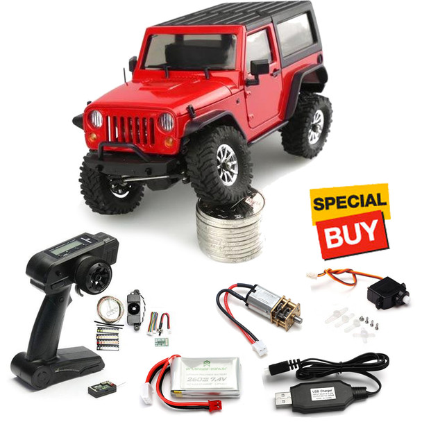 Orlandoo Hunter 1/35 Wrangler Rubicon w/ Radio / Servo / Motor / Battery & Charger