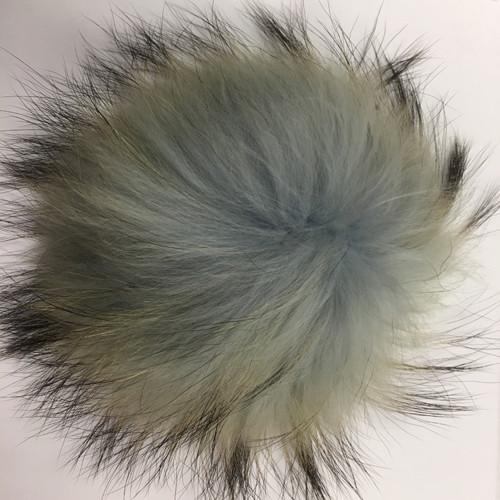 Real Raccoon Fur Pom-Poms