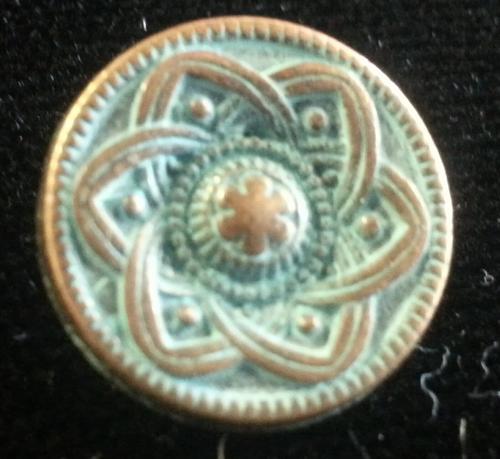 999019 Metal Round Metal w/ Shank (15mm)