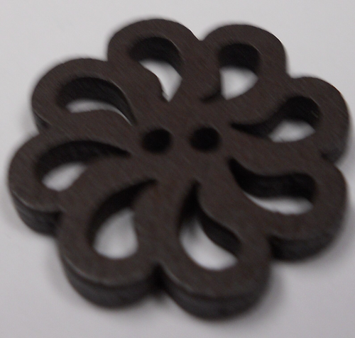 111006 Round Cutout Brown Wood (20mm)