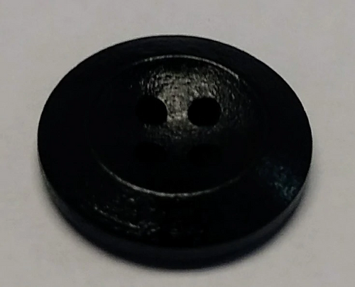 111044 Wood Round Black 4 Hole 20mm