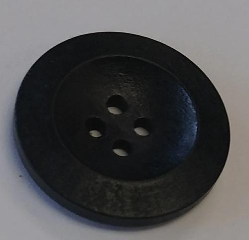 111045 Wood Round Black 4 Hole 25mm