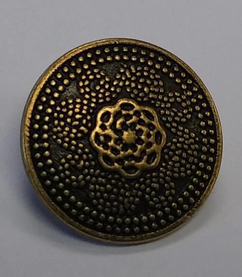999043 20mm Round Metal Bronze w/ Shank