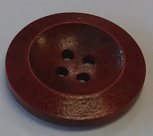111051 Wood 25mm Round Red 4 Hole