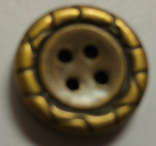 555047 Acrylic Round 4 Hole Bronze (13mm)