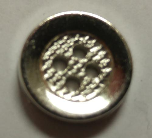 555049 Acrylic Round 4 Hole Silver (13mm)