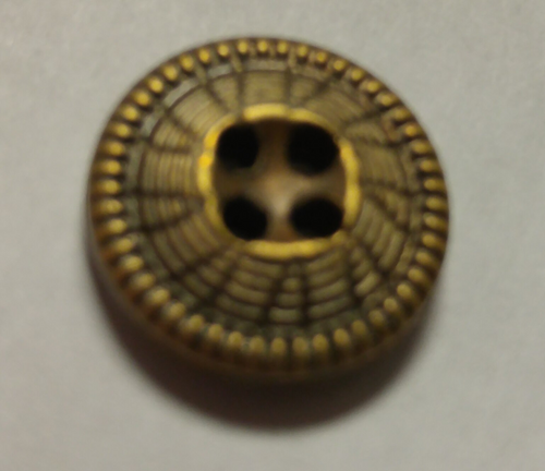 555050 Acrylic Round 4 Hole Bronze (13mm)