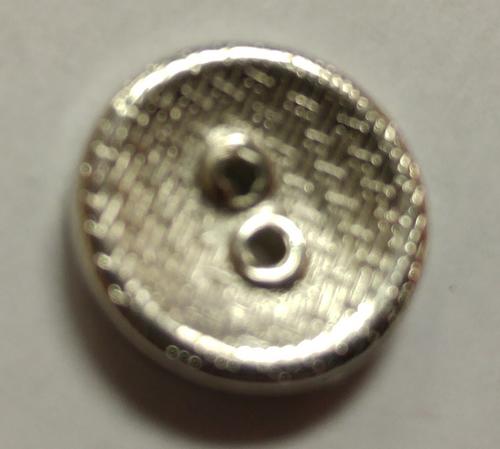 555051 Acrylic Round 2 Hole Silver (13mm)