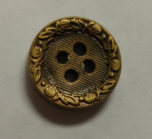 555052 Acrylic Round 4 Hole Bronze (13mm)