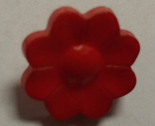 555043 Acrylic Red Daisy (16mm)