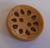 111005 Round Wood 2 Hole Cutout (23mm)