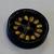 111036 Wood  12.5mm Round Black 4 Hole
