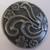 999008 Round Metal Flower w/ shank (20mm)